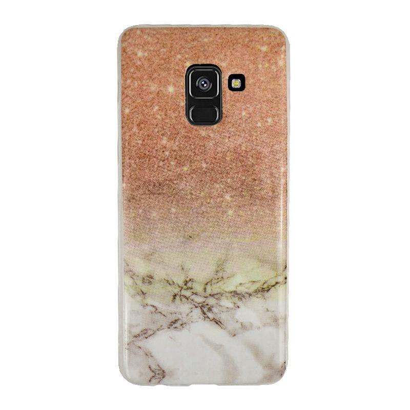 Silikónový kryt pre Samsung Galaxy A8 2018 Gold Marble
