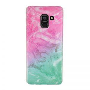 Silikónový kryt pre Samsung Galaxy A8 2018 Green Marble