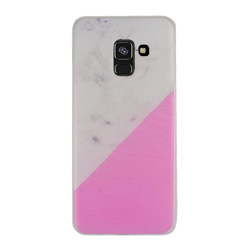 Silikónový kryt pre Samsung Galaxy A8 2018 Pink Marble