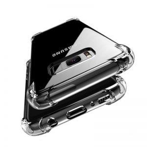 Silikónový kryt pre Samsung Galaxy S8 priehľadný s vystúženými hranami