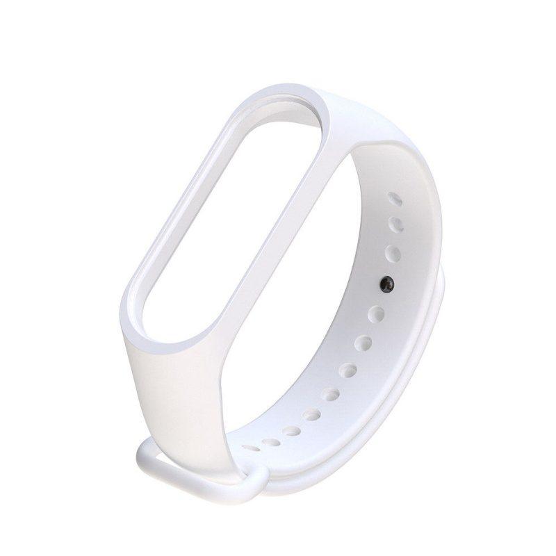 Silikónový remienok pre Xiaomi Mi Band 3 biely