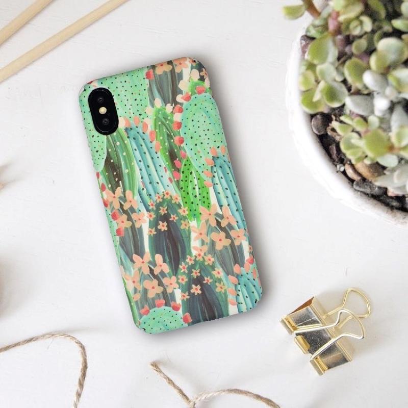 Plastový kryt na iPhone X/XS Kaktus