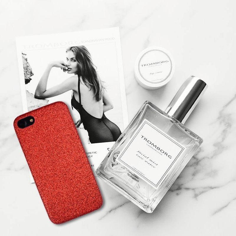 Silikónový kryt na iPhone 7/8/SE 2 Red Sparkling