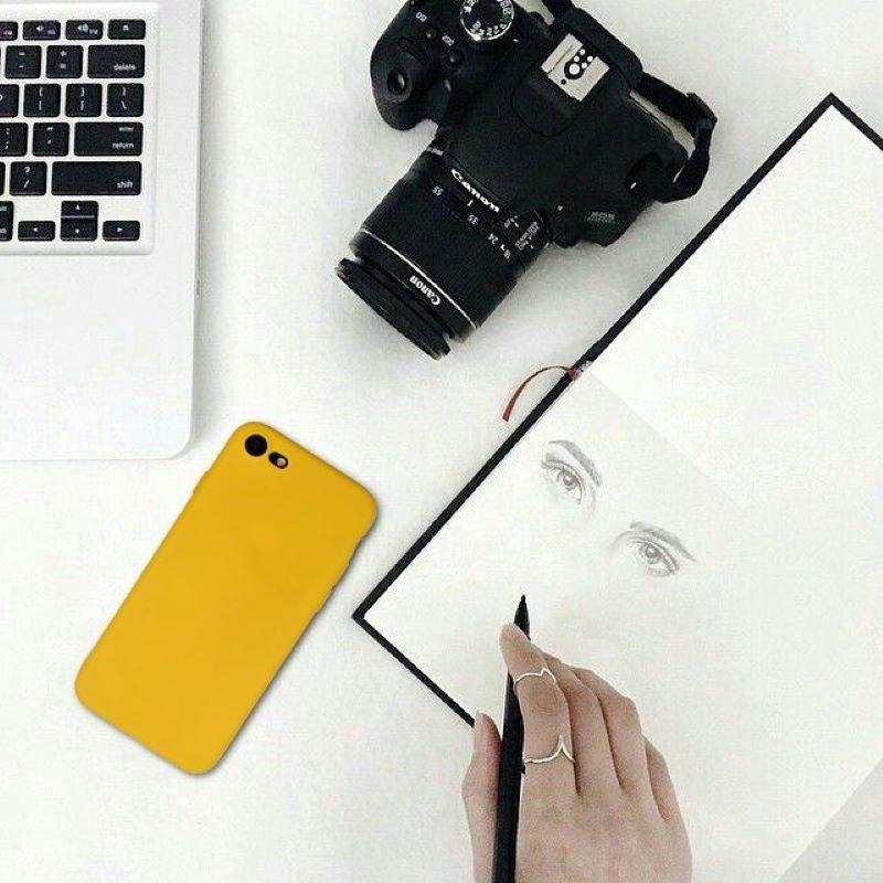 Silikónový kryt na iPhone 7/8/SE 2 Flash Yellow