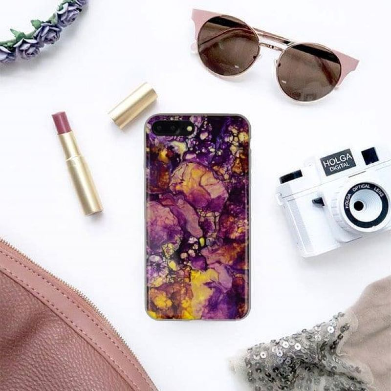Silikónový kryt na iPhone 7/8 Plus Purple Art