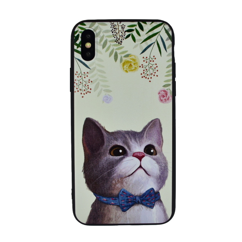 Silikónový kryt pre Apple iPhone X/XS Cute Cat