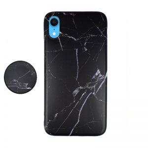 Silikónový kryt pre Apple iPhone XR Black Marble
