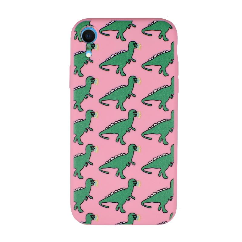 Silikónový kryt pre Apple iPhone XR Dinosaurs