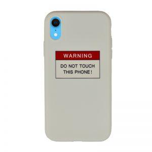 Silikónový kryt pre Apple iPhone XR Warning