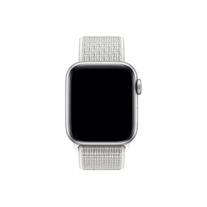 Remienok na Apple Watch 38mm/40mm látkový Shine White