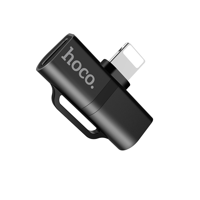 Hoco LS20 Dual Lightning konektor - čierny