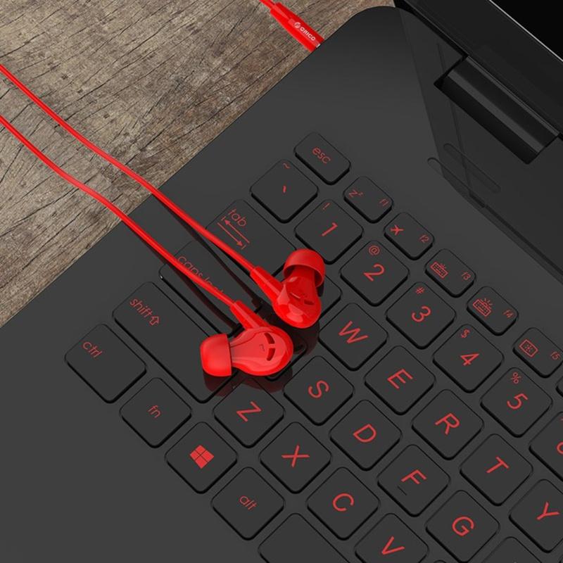 Orico slúchadlá s jack konektorom - červené