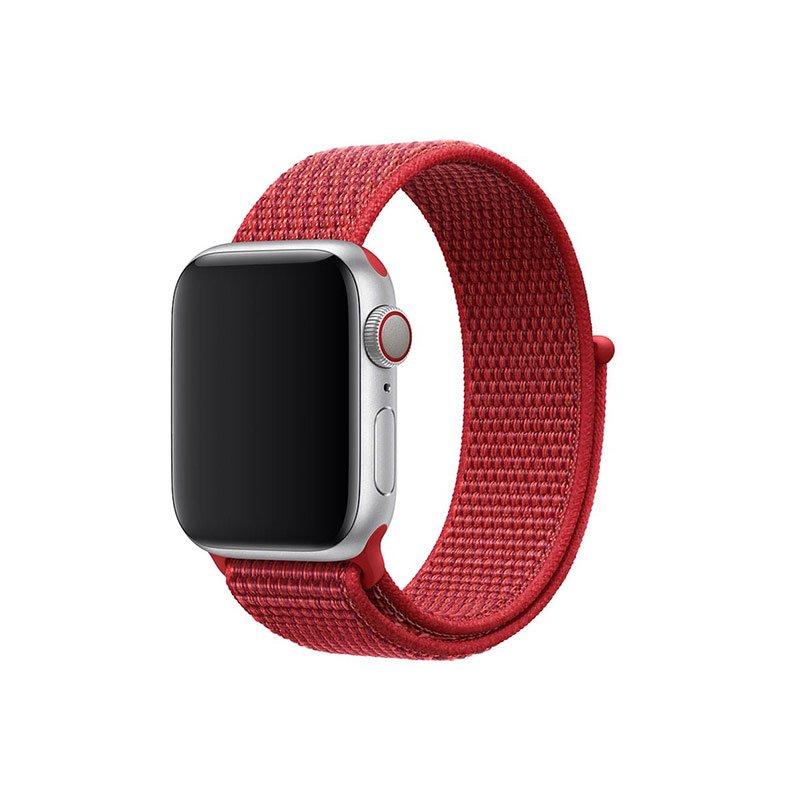 Remienok na Apple Watch 38mm/40mm látkový Red