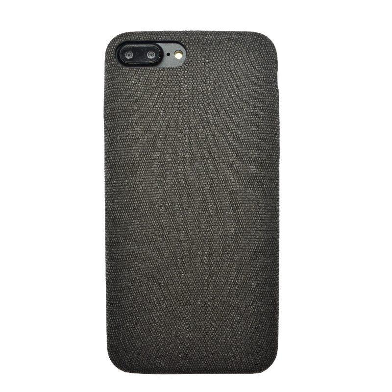 Apple iPhone 7/8 Plus plastový kryt Dark - potiahnutý látkou