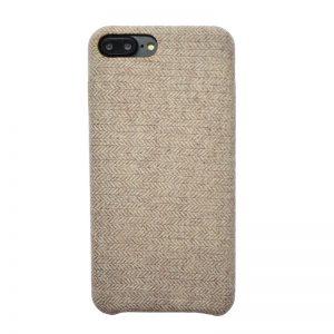 Apple iPhone 7/8 Plus plastový kryt Wheat - potiahnutý látkou
