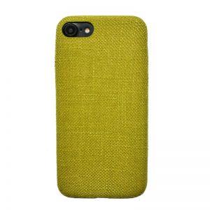 Apple iPhone 7/8 plastový kryt Yellow - potiahnutý látkou