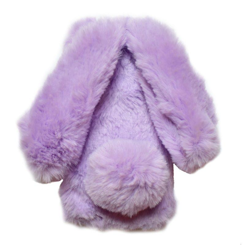 Apple iPhone 7/8 silikónový 3D kryt Purple králik