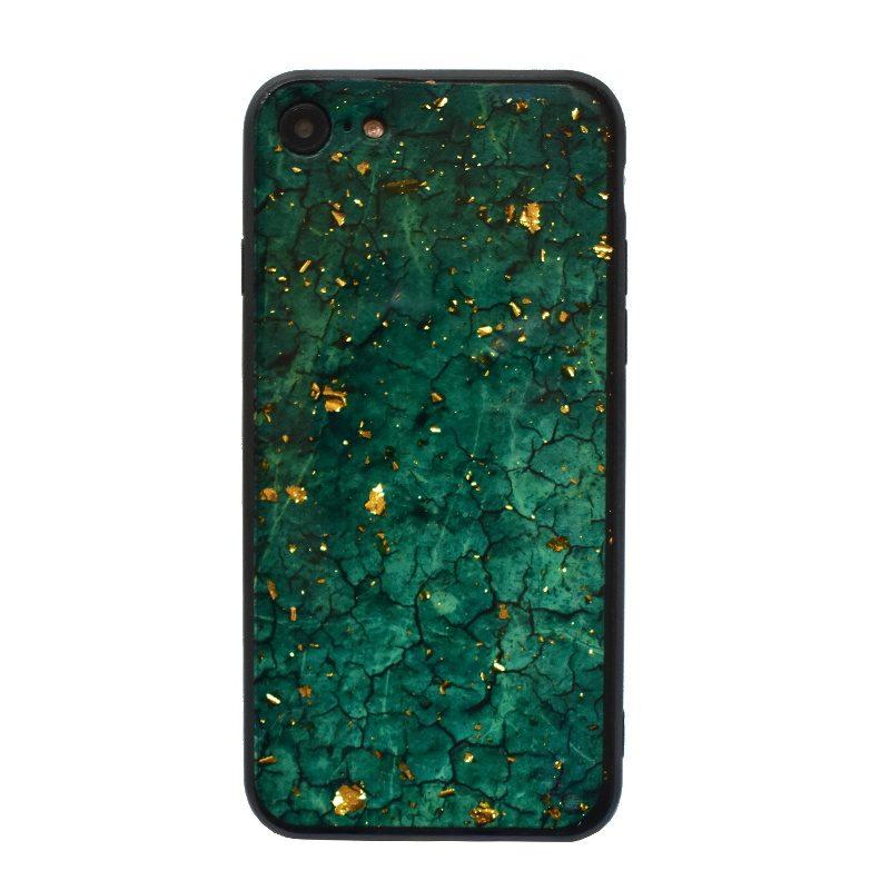 Apple iPhone 7/8 silikónový kryt Green Marble