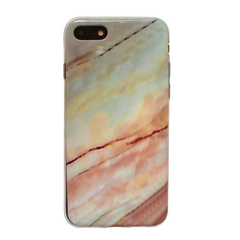 Apple iPhone 7/8 silikónový kryt Orange Marble
