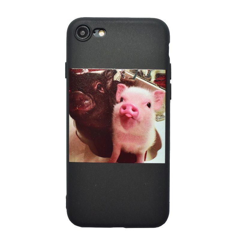 Apple iPhone 7/8 silikónový kryt Pigs