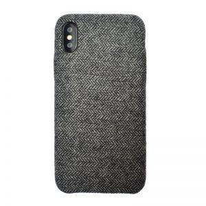 Apple iPhone X/XS plastový kryt Grey - potiahnutý látkou