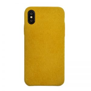 Apple iPhone X/XS plastový kryt Yellow - potiahnutý látkou