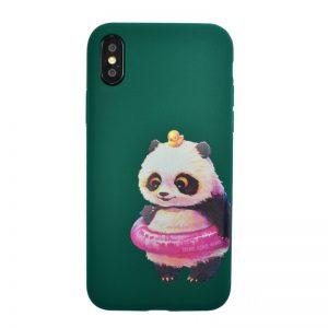 Apple iPhone X/XS silikónový kryt Panda