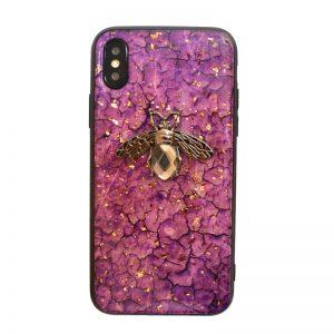Apple iPhone X/XS silikónový kryt Purple Animal