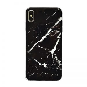 Apple iPhone XS Max silikónový kryt Black Marble