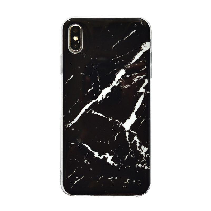 Apple iPhone XS Max silikónový kryt Black Marble