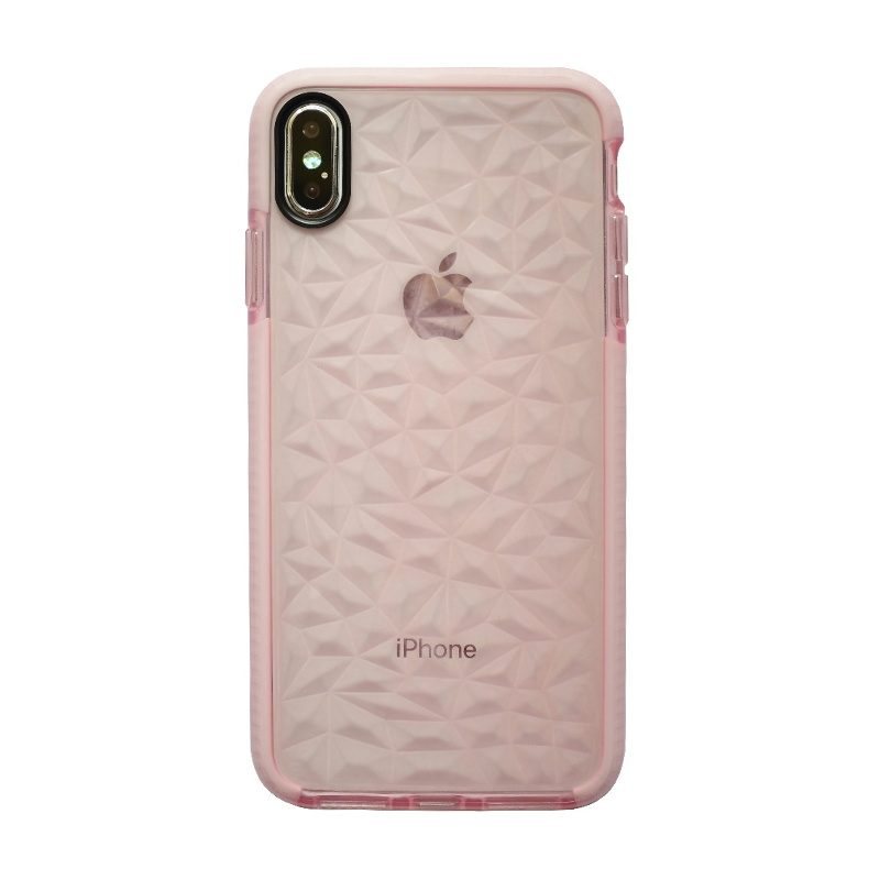 Apple iPhone XS Max silikónový kryt Geometric Pink