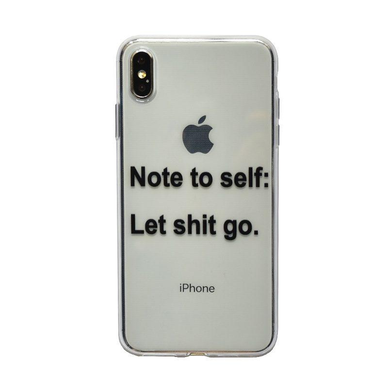 Apple iPhone XS Max silikónový kryt Note