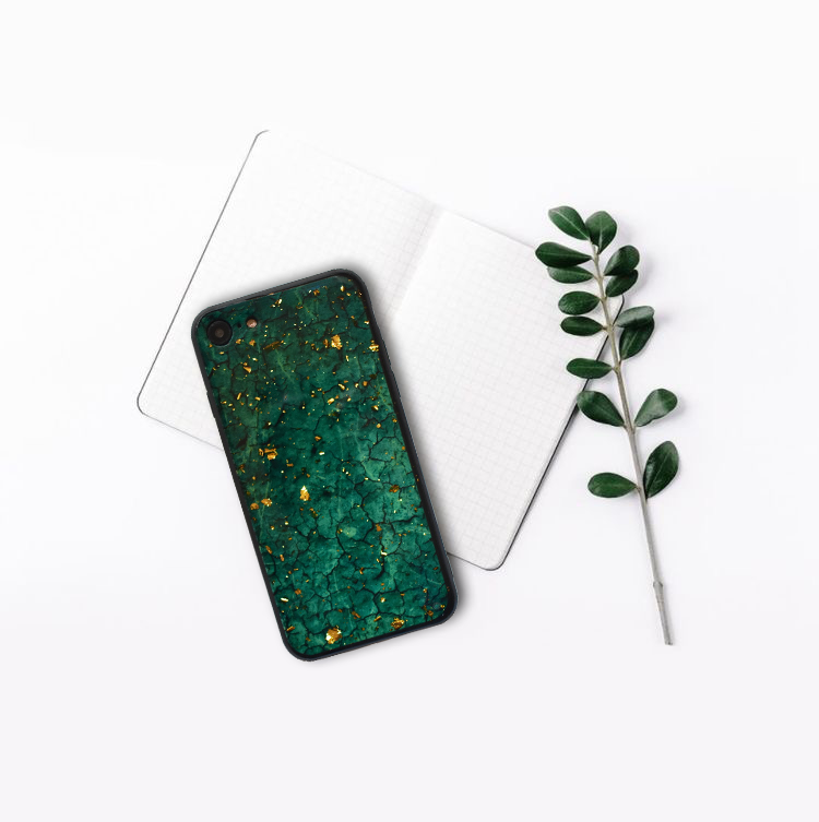 Silikónový kryt na iPhone 7/8/SE 2 Green Marble