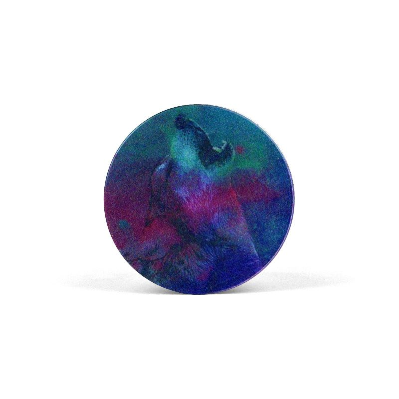PopSocket Colorfull Painted Wolf