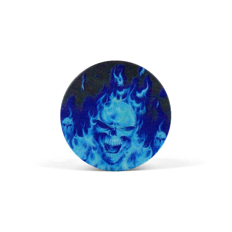 PopSocket Flaming Blue Skull