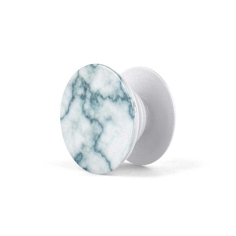 PopSocket White Marble Blue
