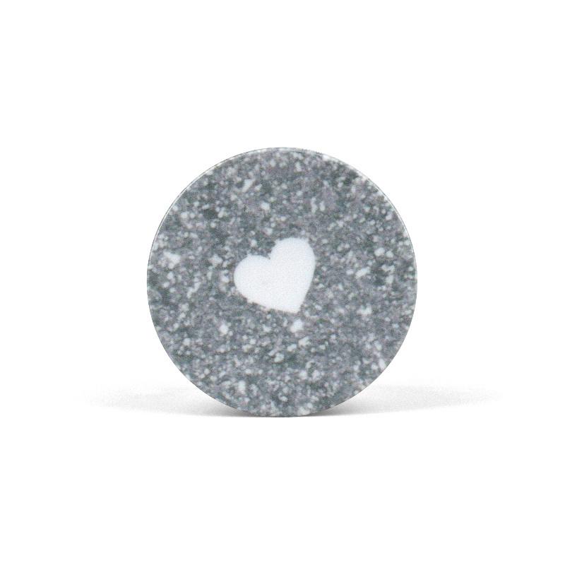 Popsocket White Heart Grey