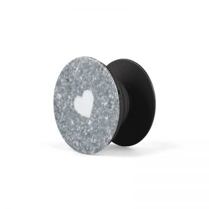 Popsocket White Heart Grey