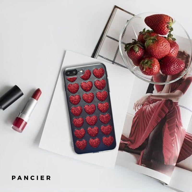 Silikónový 3D kryt na iPhone 7/8 Plus Red Heart