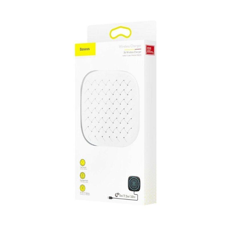 Baseus bezdrôtová nabíjačka pre Apple iPhone - biela