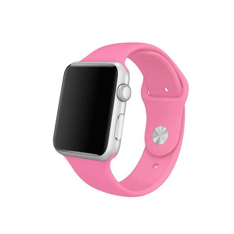 Remienok na Apple Watch 38mm/40mm silikónový S/M Pink