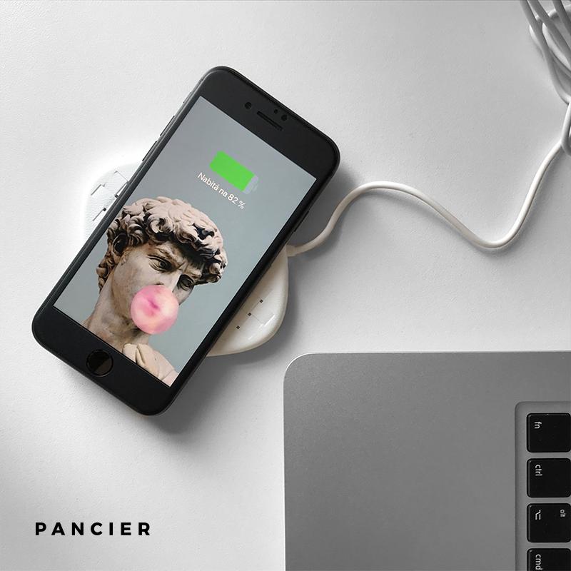 Bezdrôtová nabíjačka pre Apple iPhone Baseus- biela