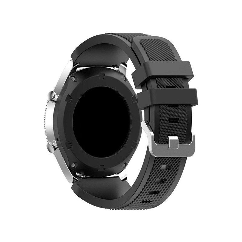 Remienok silikónový 22mm Black