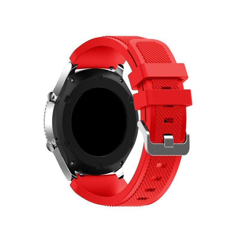 Remienok silikónový 22mm M Červený