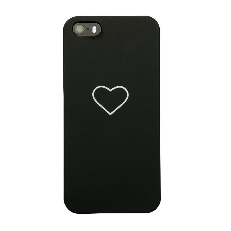Plastový kryt na iPhone 5/5S/SE Black Heart