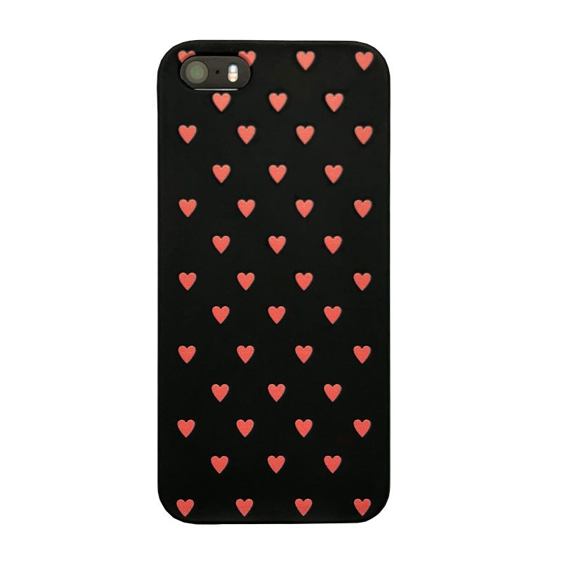 Silikónový kryt na iPhone 5/5S/SE Black And Pink