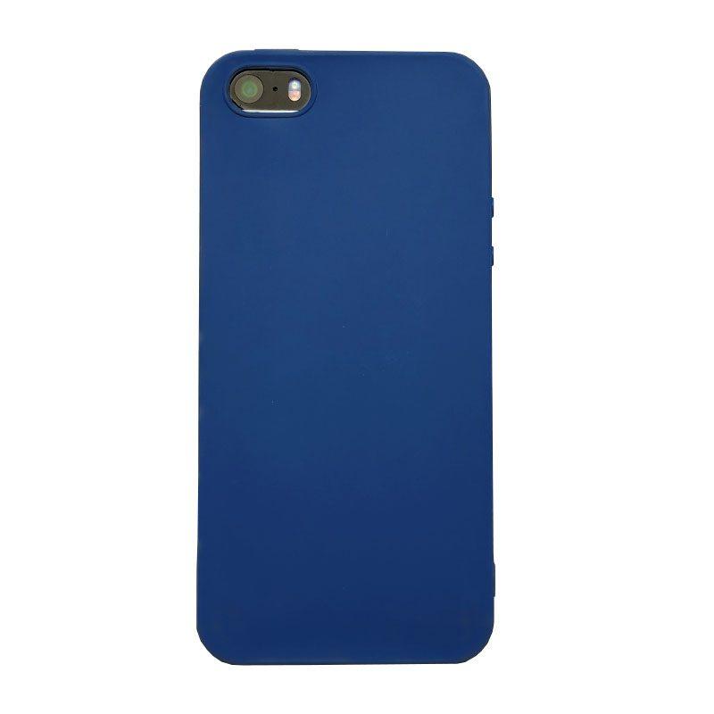 Silikónový kryt na iPhone 5/5S/SE Dark Blue