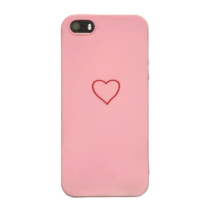 Plastový kryt na iPhone 5/5S/SE Pink Heart