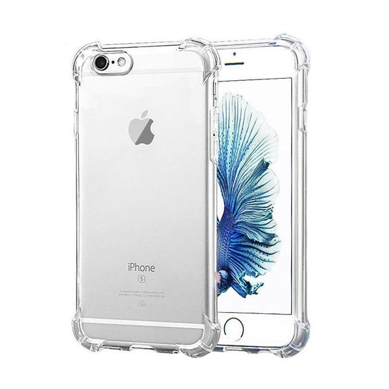 Silikónový kryt na iPhone 5/5S/SE s vystuženými hranami - priehľadné