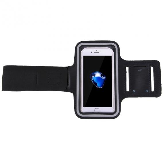 Apple iPhone 5/5S/SE športové púzdro na ruku s vreckom na kľúče čierne 1